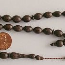 PRAYER WORRY BEADS SUBHA :DARK ZEBRANO 33 BEADS