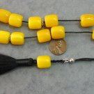 KOMBOLOI WORRY BEADS YELLOW SANDALOUS  +STERLING