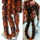PRAYER WORRY BEADS TESBIH BROWN MARBLED FATURAN