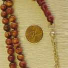 ISLAMIC PRAYER BEADS BROWN GOLDSTONE Tesbihci