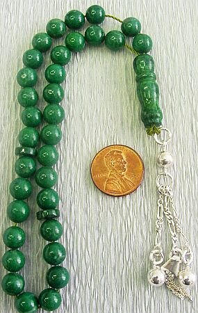 PRAYER BEADS KOMBOLOI TESBIH : RUSSIAN AMAZONITE