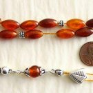 GREEK KOMBOLOI DARK HONEY BALTIC AMBER & STERLING