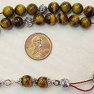 TIGER EYE STERLING GREEK KOMBOLOI WORRY BEADS