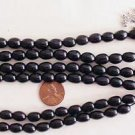 ISLAMIC PRAYER BEADS PLAIN OVAL 99 JET -OLTU- STONE