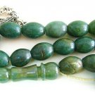 PRAYER WORRY BEADS KOMBOLOI OVAL AFRICAN JADE +STERLING