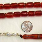 PRAYER BEADS KOMBOLOI COGNAC AMBER SPECIAL CUT