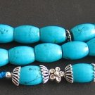 PRAYER BEADS KOMBOLOI SQUARE BARREL TURQUOISE STERLING