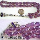 PRAYER WORRY BEADS TESBIH KOMBOLOI AMETRINE & STERLING