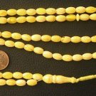 ISLAMIC PRAYER BEADS 99 B. GENUINE YELLOW AMBER + M.O.P