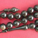 PRAYER WORRY BEADS TESBIH KOMBOLOI DARK BUFFALO HORN b