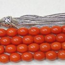 Islamic Prayer Beads 99 DARK ORANGE CORAL  by Tesbihci