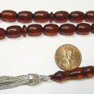 PRAYER BEADS KOMBOLOI  VINTAGE COGNAC AMBER MISKETA
