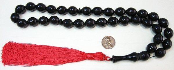 PRAYER WORRY BEADS KOMBOLOI TESBIH BLACK OLIVE FATURAN