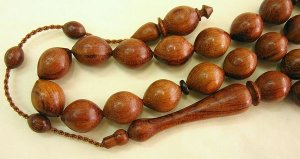 ISLAMIC PRAYER BEADS WORRY BEADS TASBIH ROSE WOOD