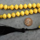 PRAYER BEADS KOMBOLOI BUTTERSCOTCH AMBER SHALGAMY CARVE