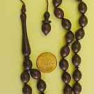 PRAYER WORRY BEADS TESBIH KOMBOLOI  WENGE WOOD