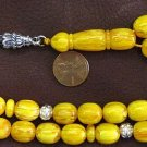 PRAYER BEADS KOMBOLOI SWIRLING BUTTERSCOTCH AMBER