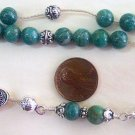 RUSSIAN AMAZONITE + STERLING GREEK KOMBOLOI WORRY BEADS