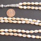 Islamic Prayer Beads 99 OVAL CHAMPAGNE MOTHER OF PEARL
