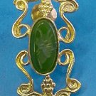 ROMAN GOLD EARRINGS WITH CHRYSOPRASE INTAGLIOS