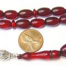 PRAYER BEADS TESBIH VINTAGE MISKETA BORDEAUX CATALIN NEW OLD STOCK 1950 RARE