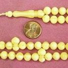 PRAYER BEADS  BUTTERSCOTCH RESIN OTTOMAN CUT 99 BEADS SPECIAL PRICE -COLLECTOR'S