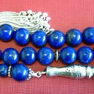 LUXURY PRAYER BEADS TASBIH AA GRADE LAPIS & STERLING -TOP QUALITY- COLLECTOR'S