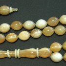 PRAYER WORRY BEADS TASBIH WILD MOUNTAIN GOAT HORN - RARE SIZE - COLLECTOR'S