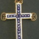 VINTAGE MICRO MOSAIC CROSS - 1960'S - No 19 NEW OLD STOCK - RARE AND PRISTINE