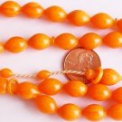 ISLAMIC PRAYER BEADS MARBLED ORANGE TURKISH AMBER CATALIN