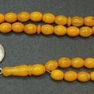 PRAYER WORRY BEADS SUBHA TASBIH 66 PRESSED AMBER