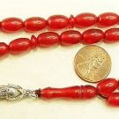 PRAYER BEADS TESBIH VINTAGE MISKETA POMMEGRENADE CATALIN NEW OLD STOCK  1950