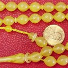 ISLAMIC PRAYER BEADS TURKISH YELLOW AMBER CATALIN