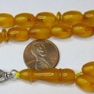PRAYER BEADS KOMBOLOI VINTAGE MISKET CATALIN  AMBER COLOR NEW OLD STOCK 1950