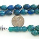 PRAYER WORRY BEADS KOMBOLOI OVAL CHRISOCOLLA & STERLING