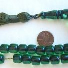 ISLAMIC PRAYER BEADS  TRANSPARENT GREEN SANDALOUS a