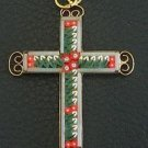 VINTAGE MICRO MOSAIC CROSS - 1960'S - No 4 NEW OLD STOCK - RARE AND PRISTINE