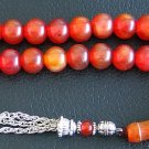 PRAYER BEADS VINTAGE CHERRY MARBLED FATURAN BAKELITE TURNIP CUT TESBIH KOMBOLOI