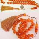 PRAYER WORRY BEADS KOMBOLOI ORANGE TURKISH BAGA SPECIAL -- COLLECTOR'S ITEM