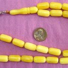 PRAYER WORRY BEADS YELLOW BUTTERSCOTCH AMBER BAKELITE TYPE RESIN SPECIAL CUT