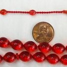 PRAYER BEADS TESBIH 33 POMMEGRENADE TURKISH AMBER CATALIN SUPERIOR CARVING RARE