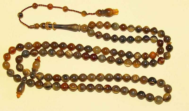 Islamic Prayer Beads Gebetskette Chapelet 99 BLOND CATTLE HORN