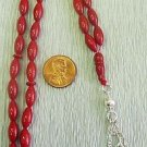 Prayer Beads Tesbih Komboloi RED CORAL PINE SEED by Tesbihci