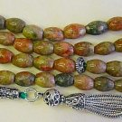 ISLAMIC PRAYER BEADS 99 AUTUMN JASPER & STERLING SILVER