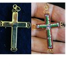 VINTAGE MICRO MOSAIC CROSS - 1960'S - No 11 NEW OLD STOCK - RARE AND PRISTINE