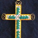 VINTAGE MICRO MOSAIC CROSS - 1960'S - No 14 NEW OLD STOCK - RARE AND PRISTINE