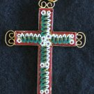 VINTAGE MICRO MOSAIC CROSS - 1960'S - No 11A NEW OLD STOCK - RARE AND PRISTINE