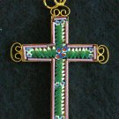VINTAGE MICRO MOSAIC CROSS - 1960'S - No 12 NEW OLD STOCK - RARE AND PRISTINE
