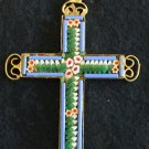 VINTAGE MICRO MOSAIC CROSS - 1960'S - No 9 NEW OLD STOCK - RARE AND PRISTINE