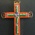 VINTAGE MICRO MOSAIC CROSS - 1960'S - No 2/10 NEW OLD STOCK - RARE AND PRISTINE